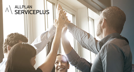 Allplan ServicePlus users giving a high five